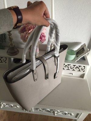 Michael Kors Karson Pearl Grey Shopper Tasche Neu Leder grau