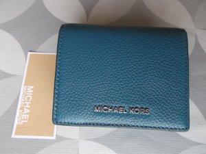 Michael Kors Card Case cadet blue leather