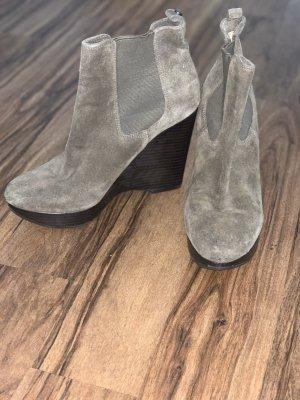 Michael Kors Wedge Booties grey brown