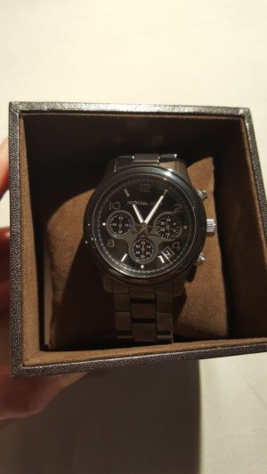 Michael Kors Keramik Uhr schwarz