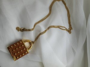 Michael Kors Necklace brown-gold-colored stainless steel