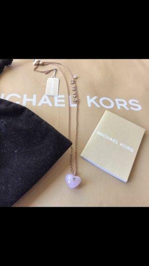 Michael Kors Kette Roségold mit Steinen als Herz 109€