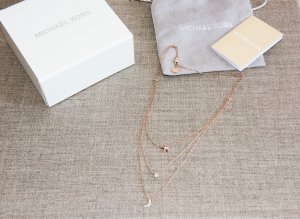 Michael Kors Necklace rose-gold-coloured stainless steel