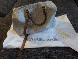 Michael Kors Kirby Large Leather Satchel Vanilla