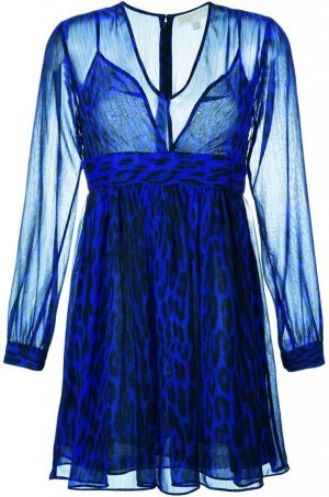 Michael Kors, Kleid blau Animalprint