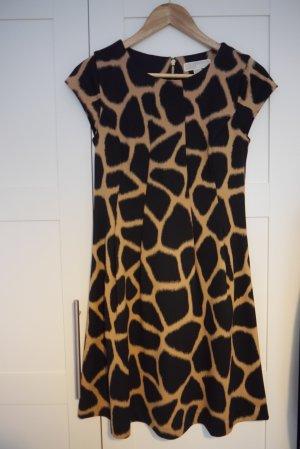 Michael Kors Cocktail Dress black-camel synthetic fibre