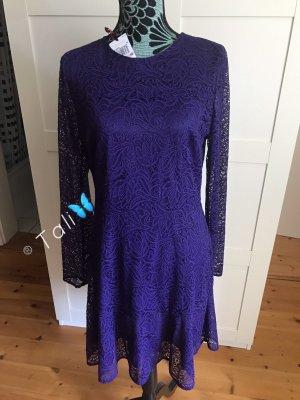 Michael Kors Kleid Lace Spitze  Lila Iris  L 40 10