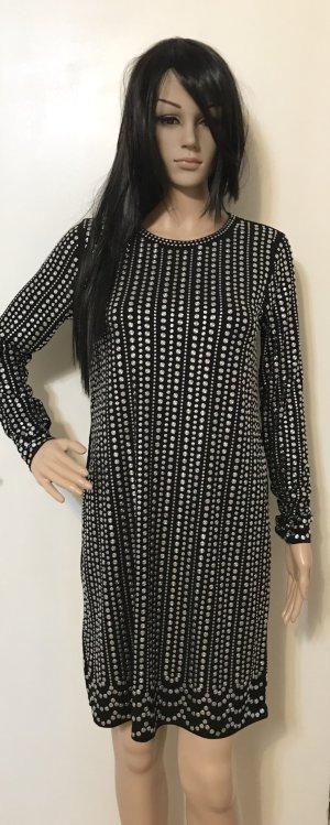 Michael Kors Evening Dress black-silver-colored