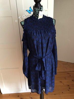 Michael Kors Kleid Off Shoulder  Royal Blau Schwarz  M 38 8