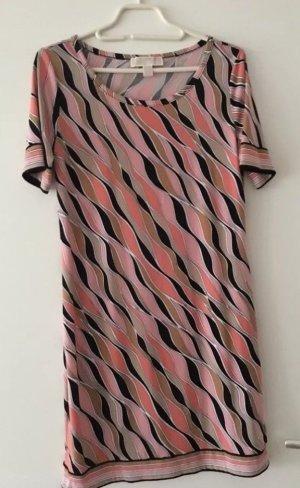 Michael Kors Kleid, Pink/Rose/Schwarz gemustert, S
