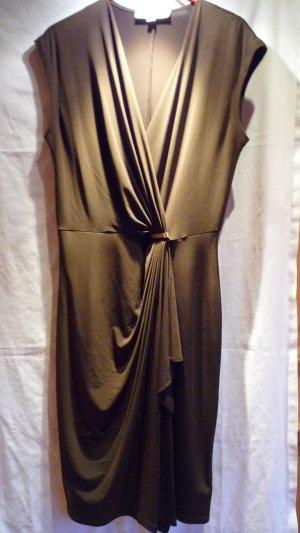 Michael Kors Kleid Stretchkleid Wickeloptik Kofferkleid khaki Gr. M 38/40