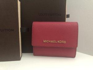 Michael Kors kleine Geldbörse Portmonee Tasche Pink Gold
