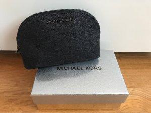 Michael Kors Cosmeticabox zwart-zilver Leer