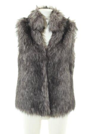 Michael Kors Fake Fur Vest light grey-black
