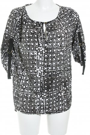 Michael Kors Short Sleeved Blouse white-black graphic pattern business style