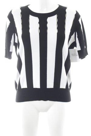 Michael Kors Kurzarmpullover schwarz-weiß Streifenmuster Casual-Look