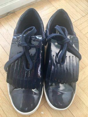 Michael Kors Lack-Sneaker, dunkelblau, Gr. 39
