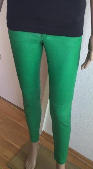 Michael Kors Pantalón de cuero verde Cuero