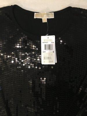 Michael Kors langarm Abendkleid schwarz mit Pailletten