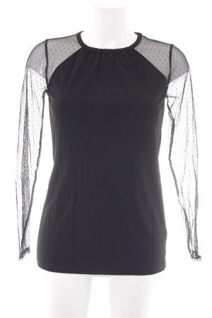 Michael Kors Langarm-Bluse schwarz Elegant