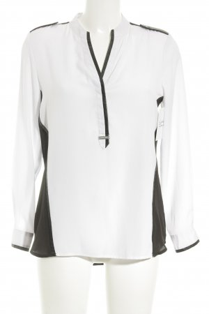 Michael Kors Langarm-Bluse weiß-schwarz Street-Fashion-Look