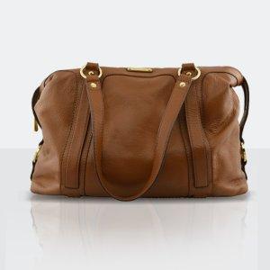 Michael Kors Bowling Bag brown-cognac-coloured leather