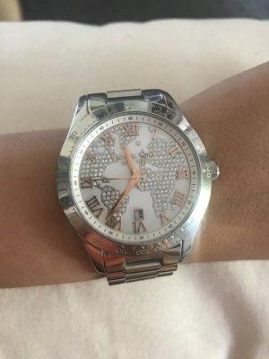 Michael Kors Layton MK-5958 Damen Uhr Silber Weiß