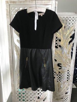 Michael Kors Leren jurk zwart-goud Leer