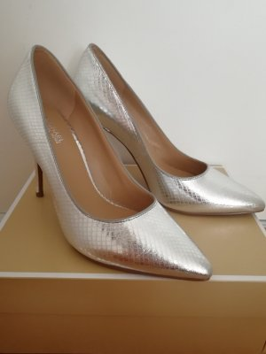 Michael Kors Leder Pumps 37 Metallic Silber