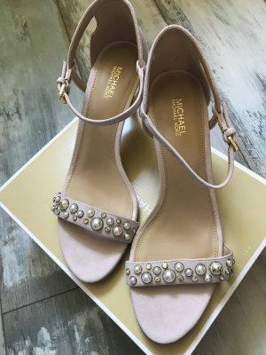Michael Kors Strapped High-Heeled Sandals dusky pink-pink