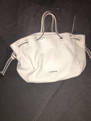 Michael Kors Leder Shopper Handtasche Weiß Silber
