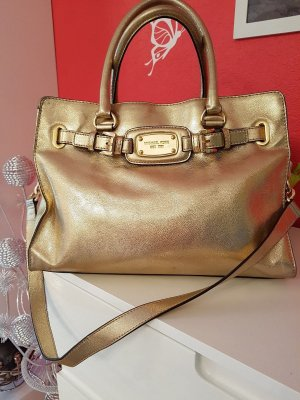 MICHAEL KORS Leder Tasche HAMILTON LG TOTE BAG IN PALE GOLD