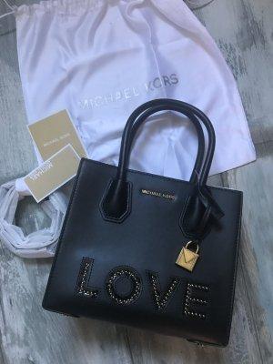 Michael Kors Leder Tasche Modell Mercer Love Schriftzug.