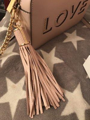 Michael Kors Key Chain dusky pink leather
