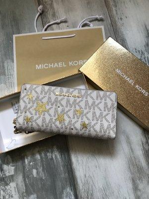 Michael Kors Portefeuille crème-doré cuir