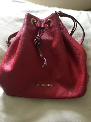 Michael Kors Pouch Bag brick red leather