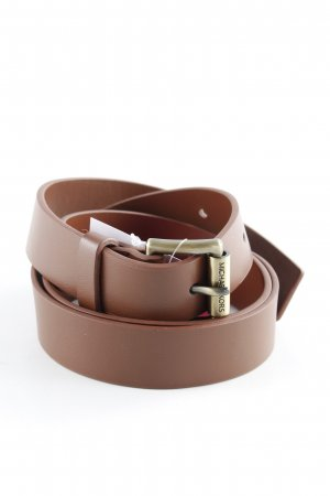 Michael Kors Leather Belt cognac-coloured casual look