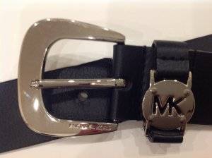 Michael Kors Leather Belt black-light grey leather