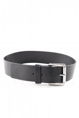 Michael Kors Leather Belt black-silver-colored casual look
