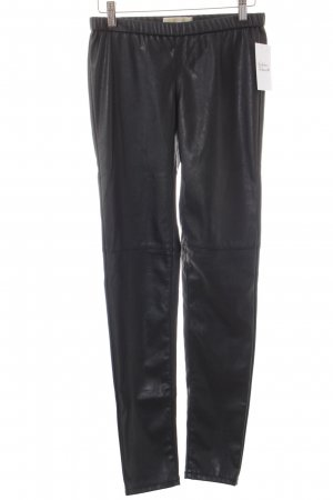 Michael Kors Leather Trousers black biker look