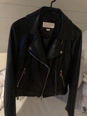 Michael Kors Leather Jacket black leather