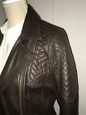 Michael Kors Leather Jacket brown leather