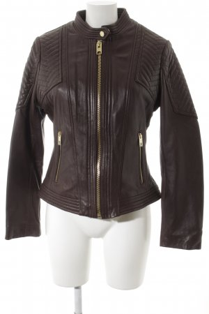 Michael Kors Lederjacke braun Street-Fashion-Look