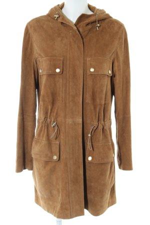 Michael Kors Leather Coat bronze-colored casual look