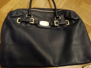 Michael Kors Carry Bag gold-colored-dark blue leather