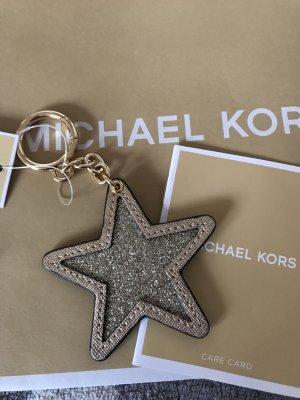 Michael Kors  LederTaschenanhänger neu mit Etikett Stern Glitzer 60€
