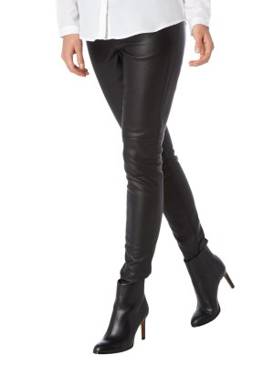 Michael Kors Leggings in Lederoptik - Schwarz Gr 4(US) = 36 S (DE)