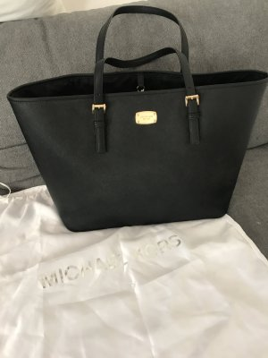 Michael Kors Shopper black-gold-colored leather