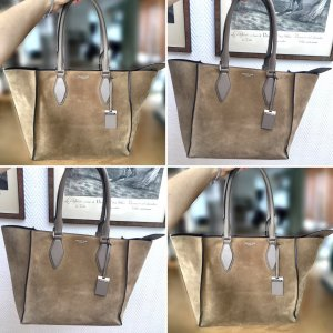 Michael Kors LG TOTE Collection Wildleder Schultertasche in Farbe Sand