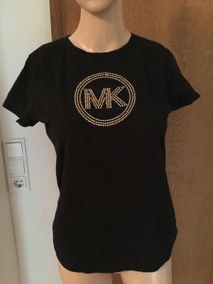 Michael Kors Logo T-Shirt Schwarz Gold Gr. S/36
